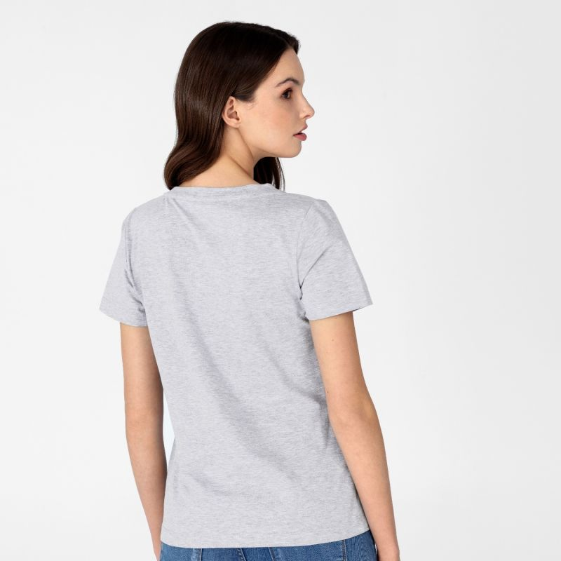 Women's V-Neck T-Shirt Grey image