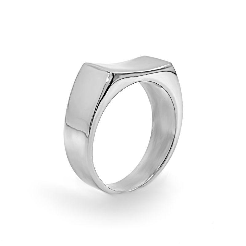'Lust 2.0' Silver Polished Dip Ring image