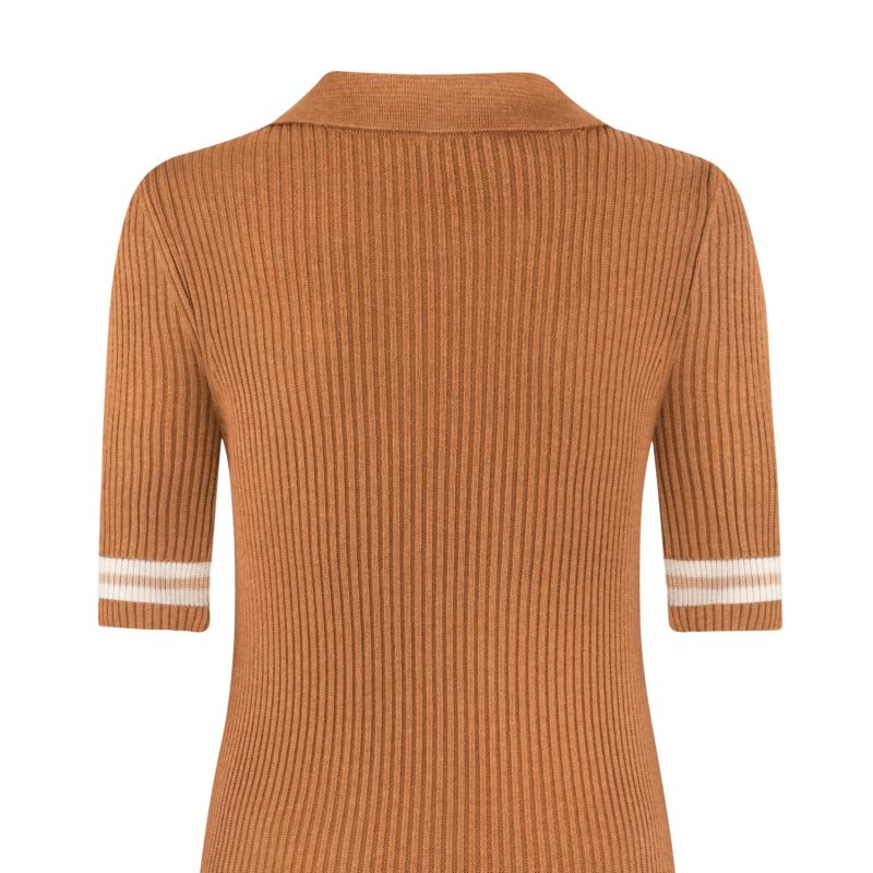 Polo T-Shirt Brown image