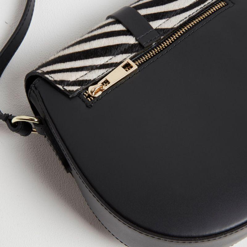 Zebra Print Saddle Bag image