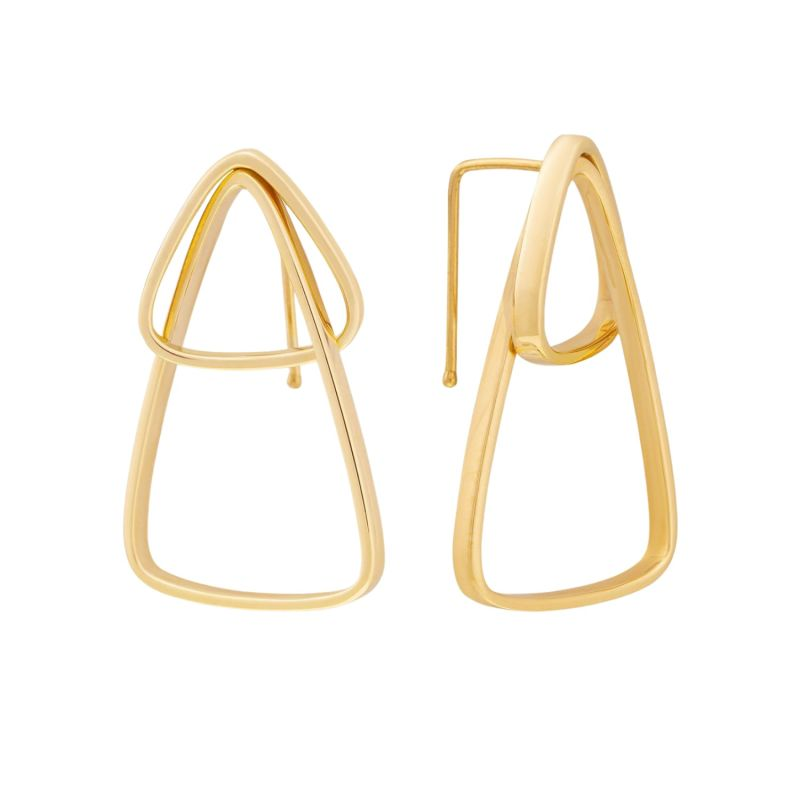 Runda Tempo 10K Gold Geometric Hoop Earrings image