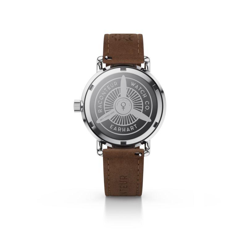 Earhart Silver Grey - Coffee Suede image