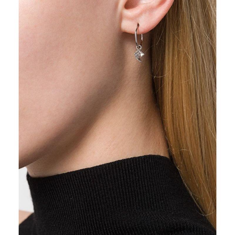Silver Mini Vortex Hoop Earrings image