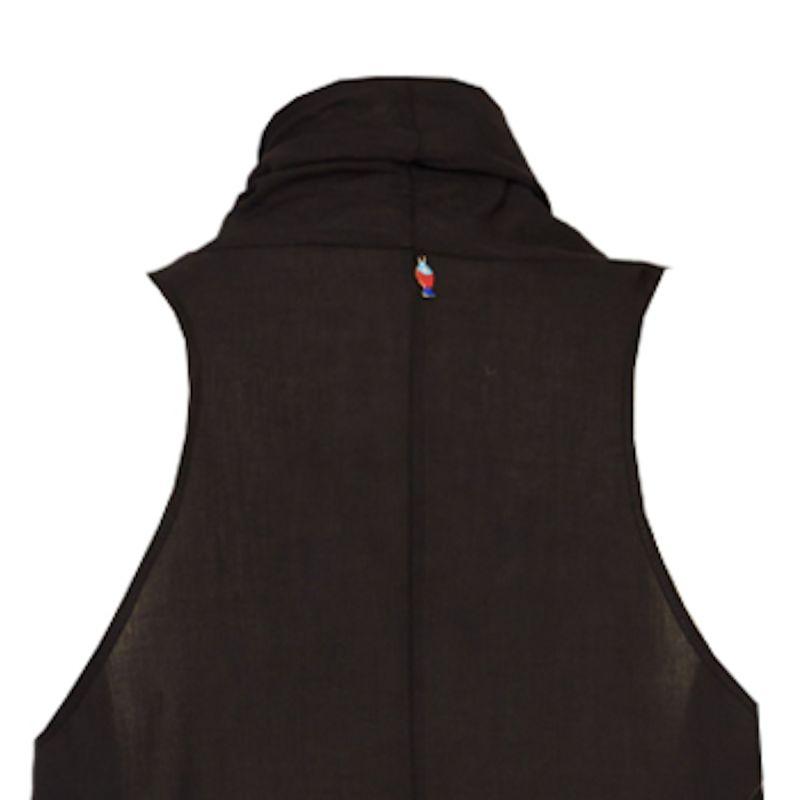 Ruffled Organic Cotton Dress in Black image