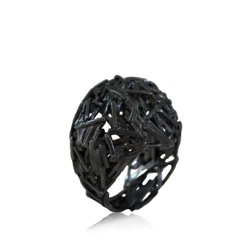 Big Nest Ring Black image