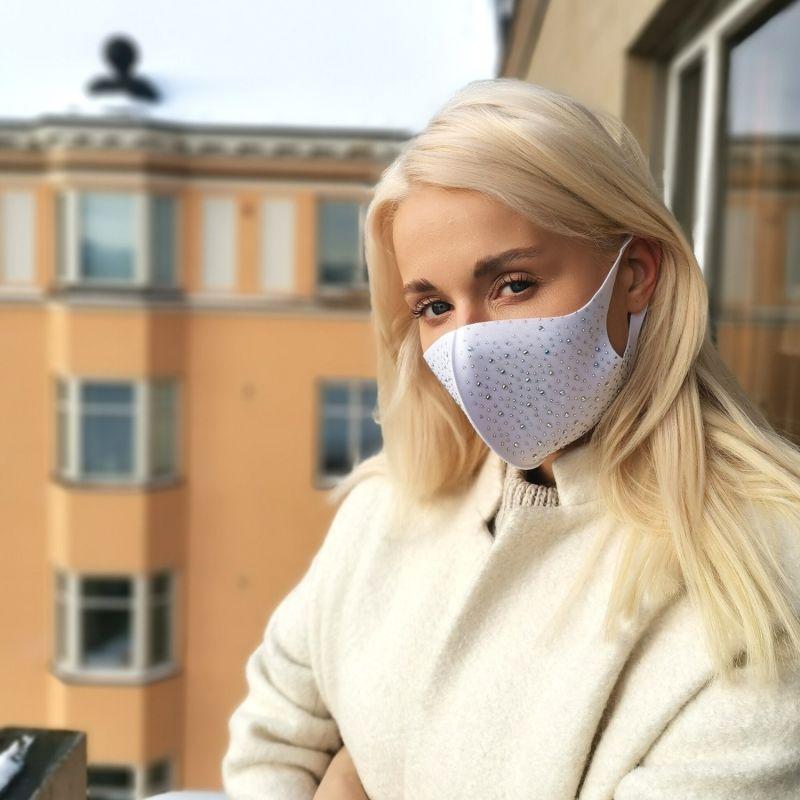 White Fashion Face Mask Set image