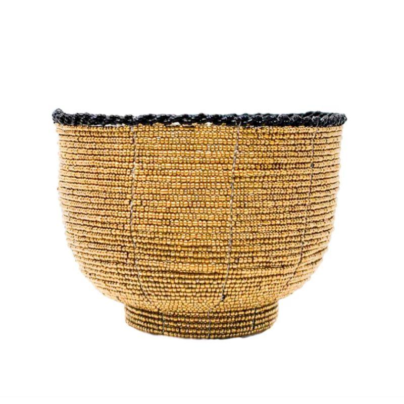 Beaded Bali Bowl - Gold image