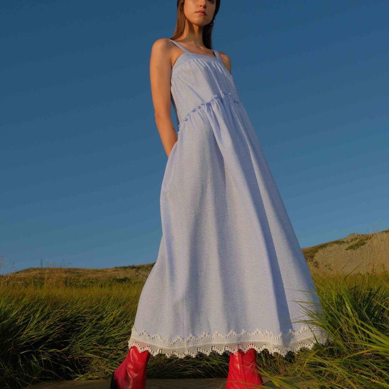 Whitney Maxi Dress With Lace Embellishments image