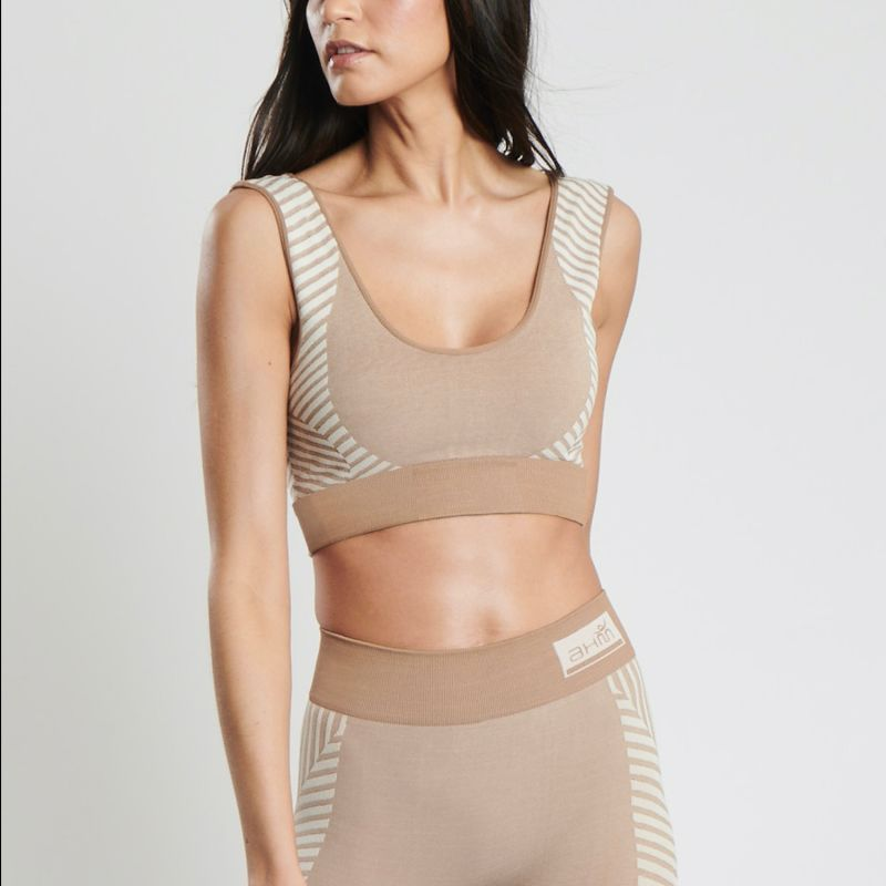 Conscious Yoga Sports Bra In Nude image