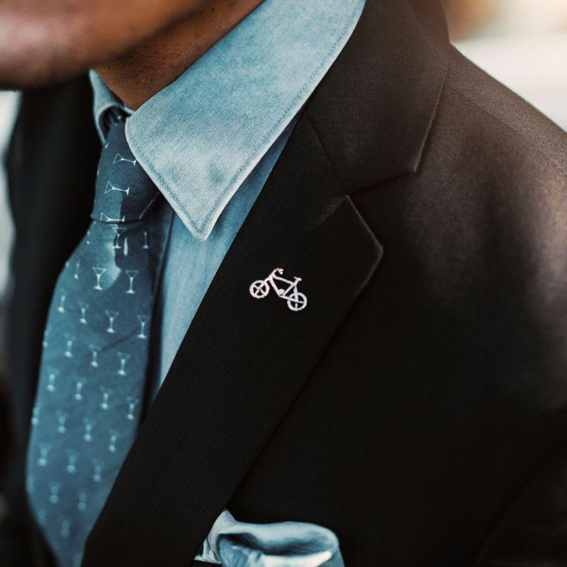 Lifecycle Silver Lapel Pin image