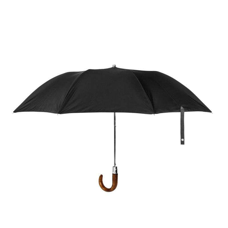 British Folding Umbrella Black/Charcoal Grey image