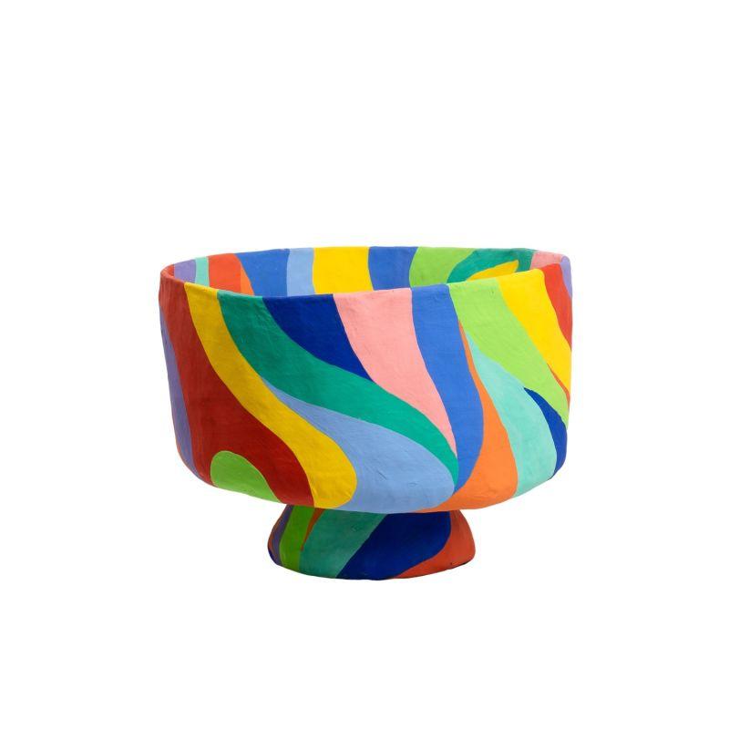 Papier Mache Rainbow Bowl Large image