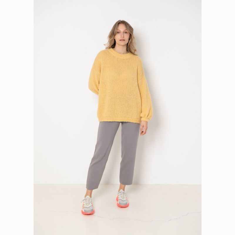 Melody Oversized Alpaca Jumper - Yellow image