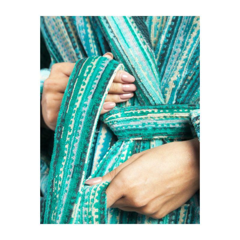 Green Grass Collar Bathrobe image