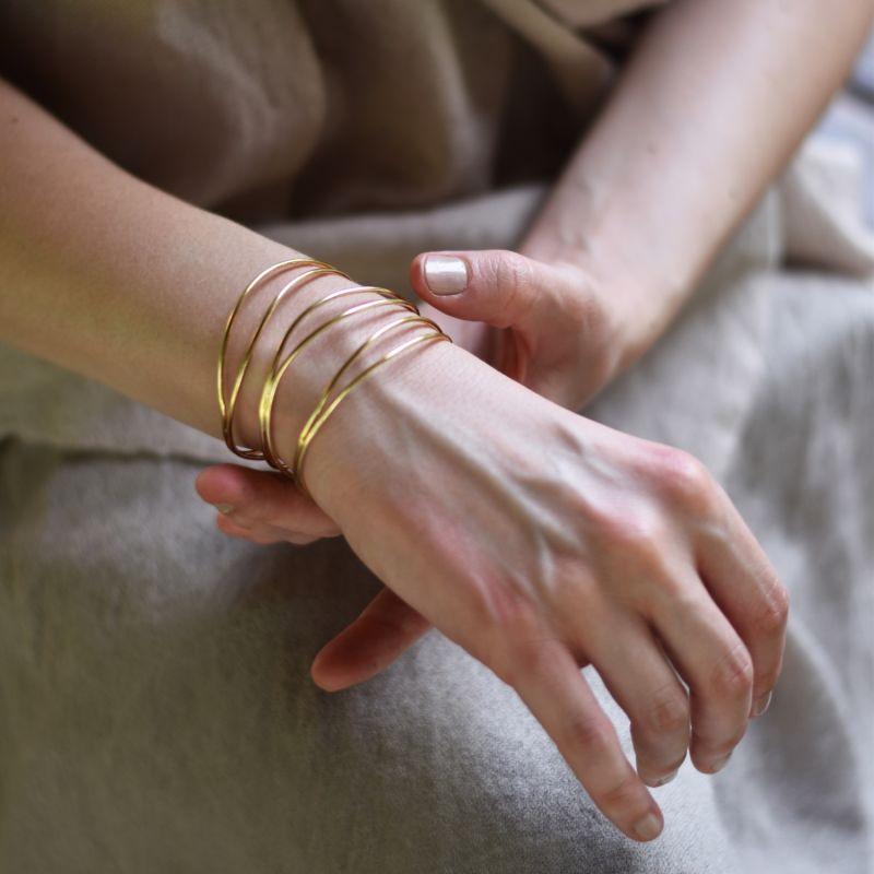 Gold Plated Wave Bracelets image