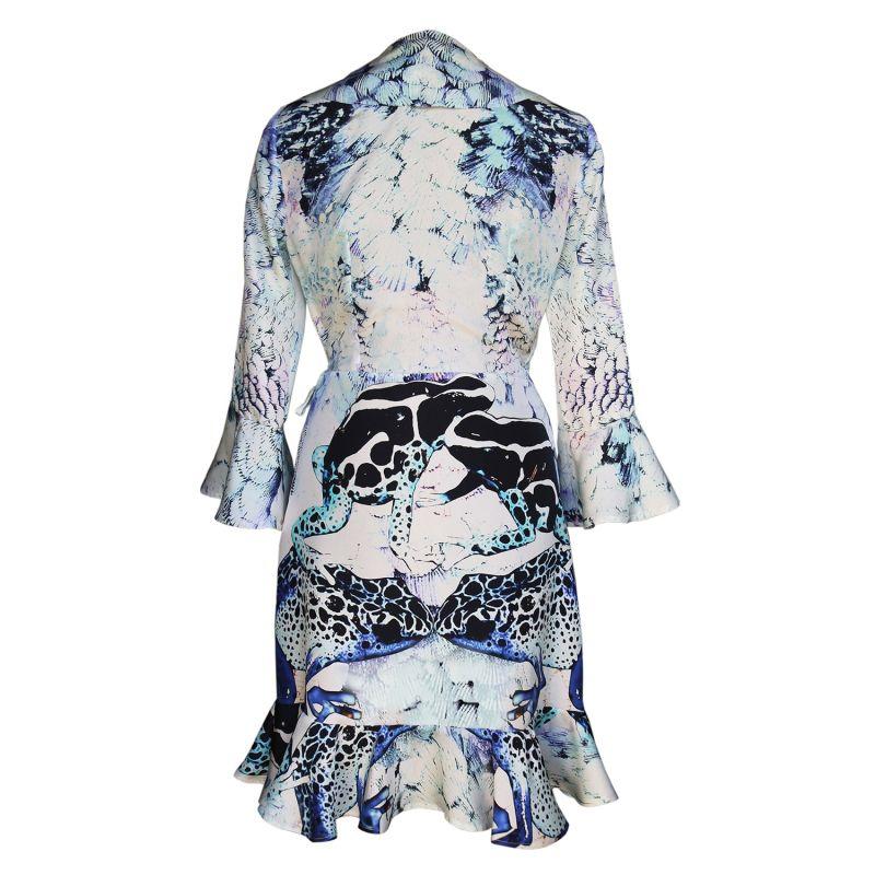 Silk Wrap Dress - Poison Dart Frog & Feather Print image