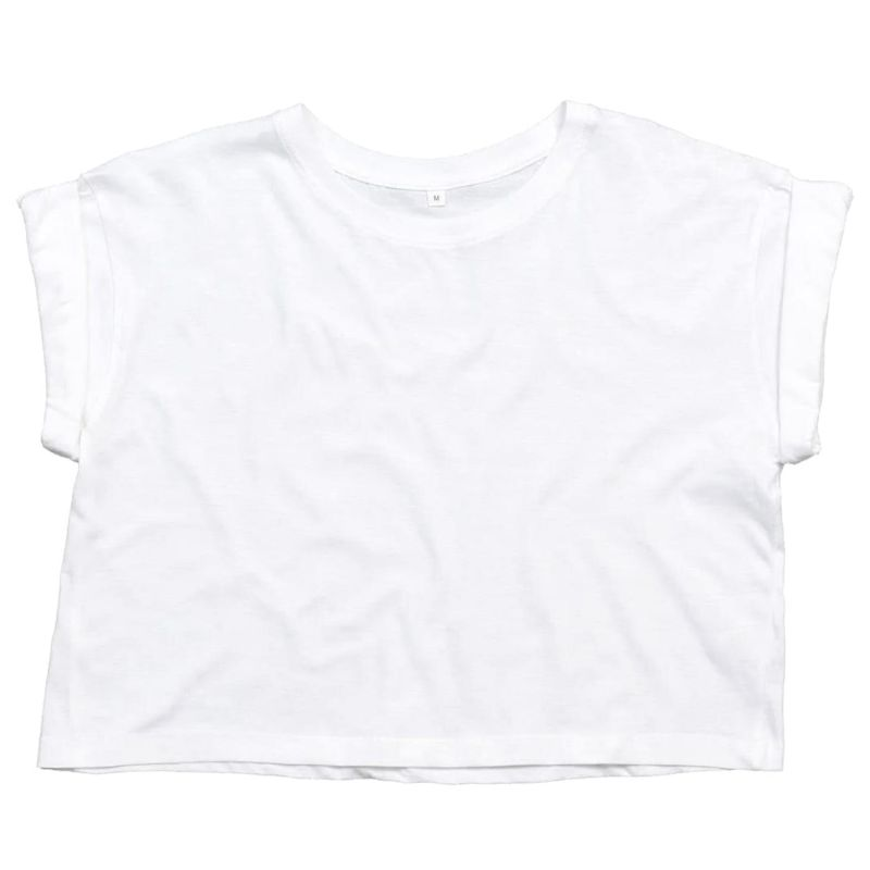 Organic Cropped Tee with embroidery image