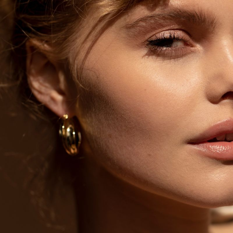 Lilly Molten Gold-Plated Earrings image