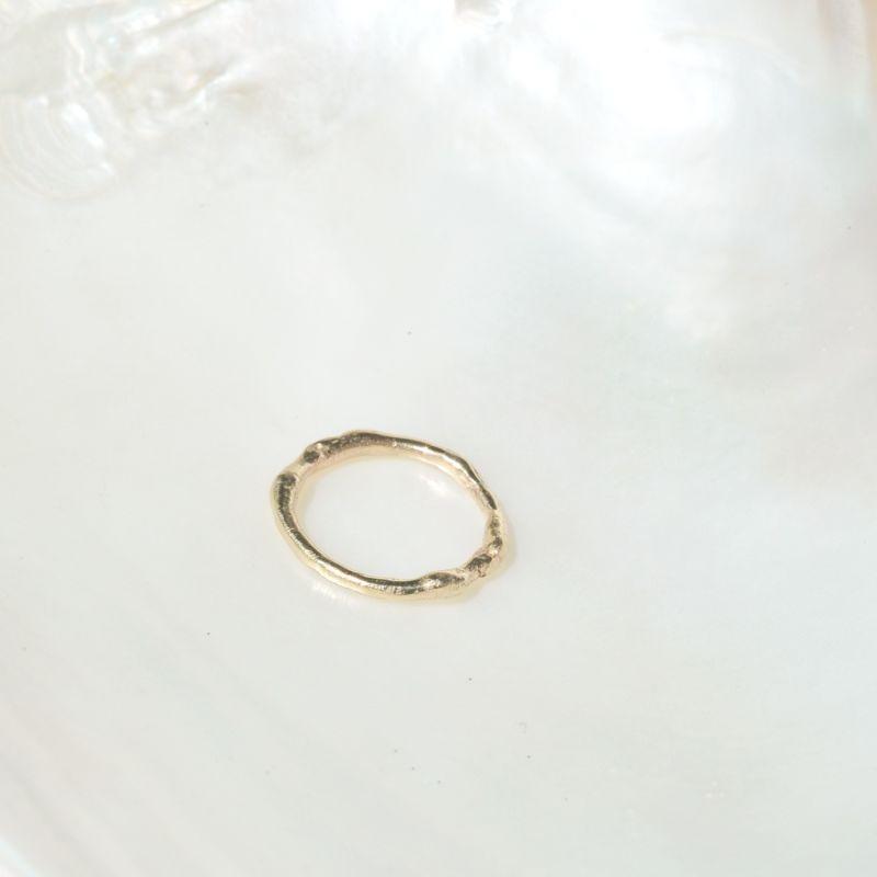 9ct Gold Organic Stacking Ring image