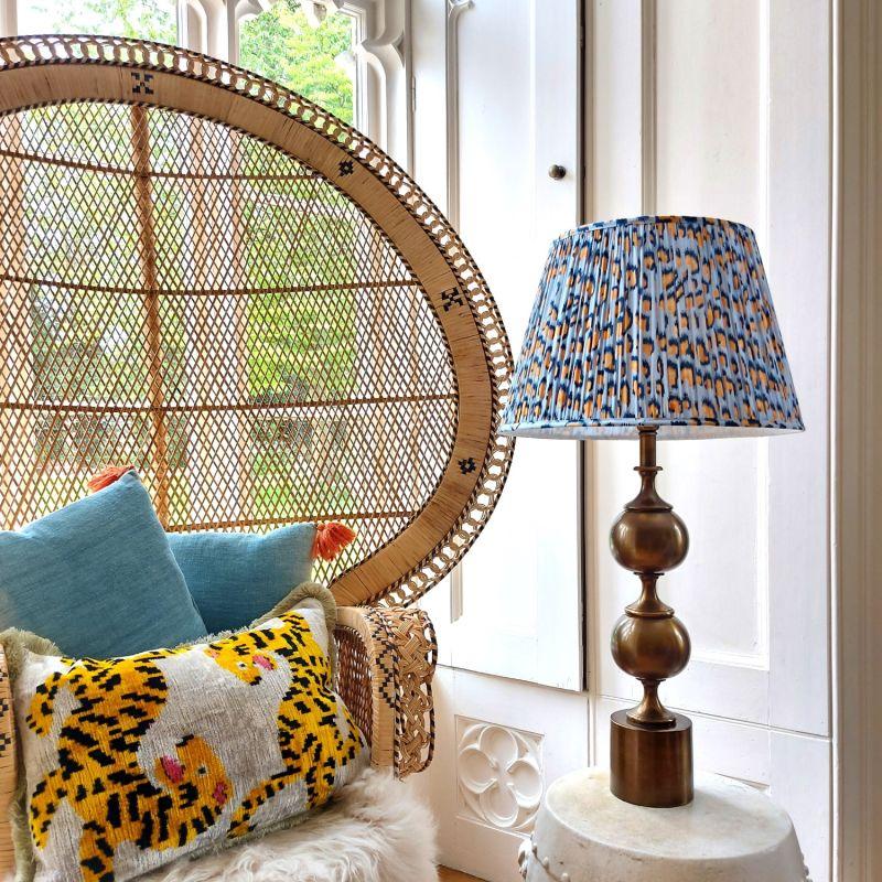 Pebble Gathered Cotton Lampshade image