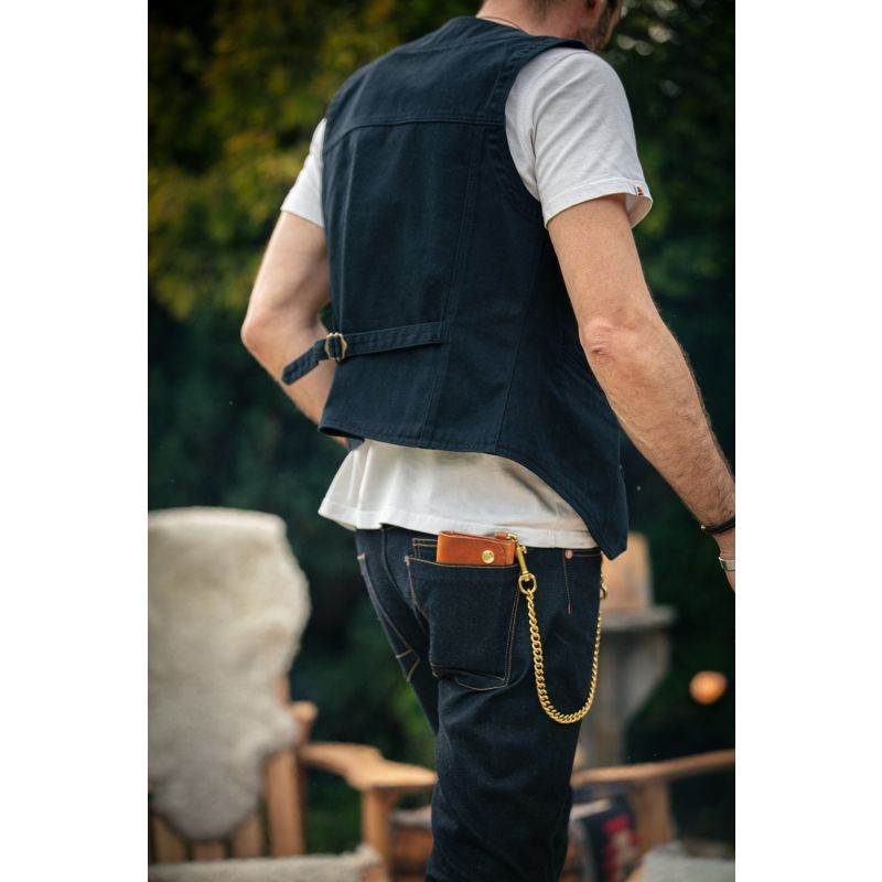 &Sons Navy Lincoln Waistcoat / Vest image