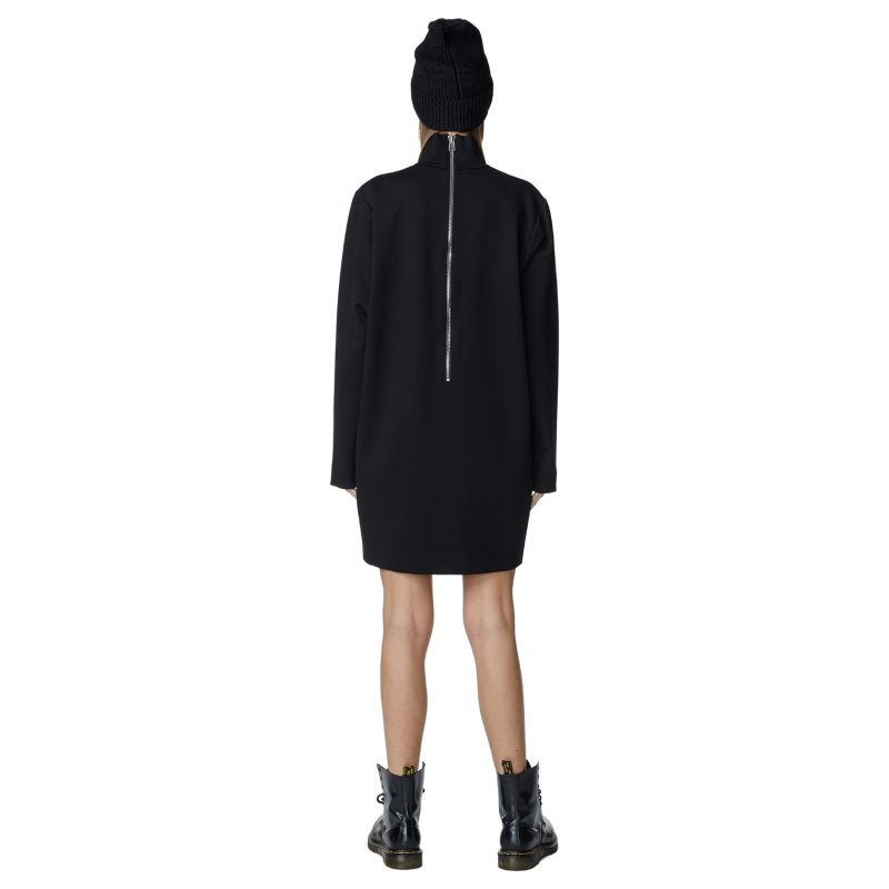 Modest Silhouette Dress With High Collar image
