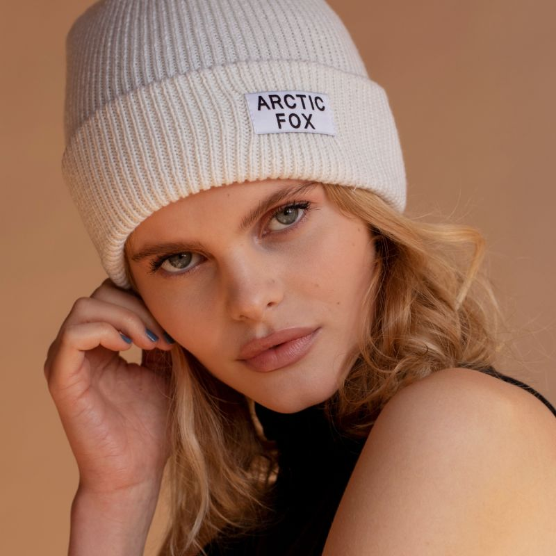 The Recycled Bottle Beanie In Winter White image