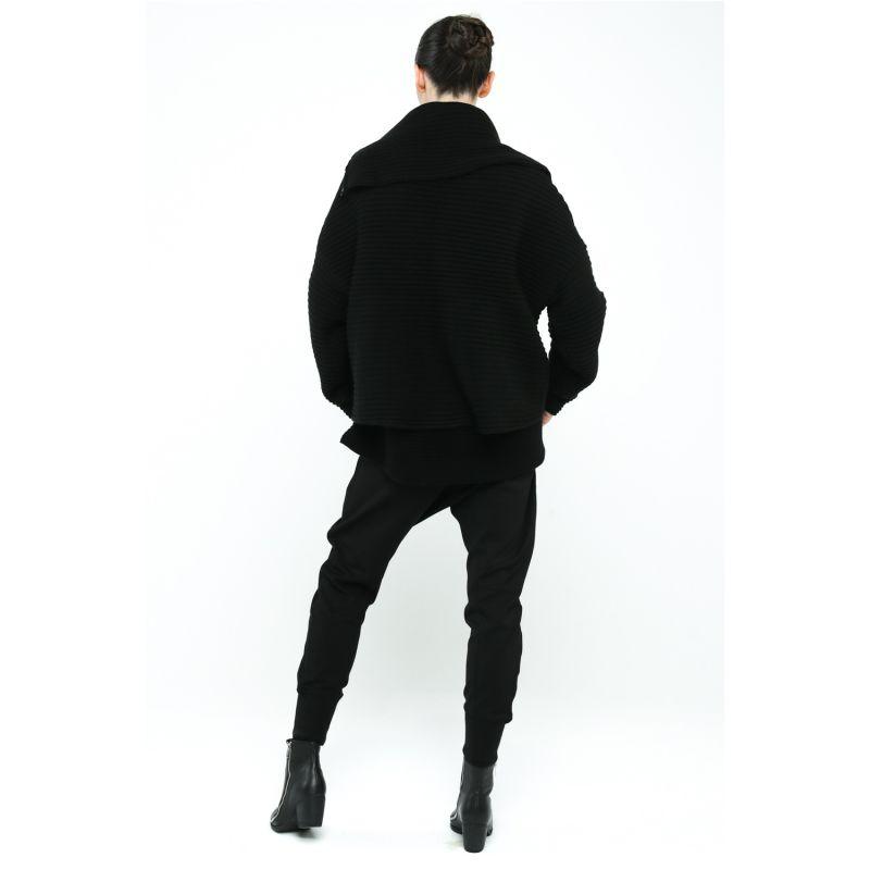 Kara Chunky Rib Knit Cardigan - Black image