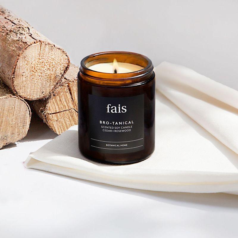 Bro-Tanical Cedar & Rosewood Soy Candle Medium image