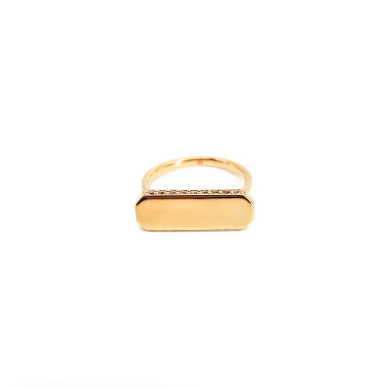 Iliam White Topaz Gold Ring image