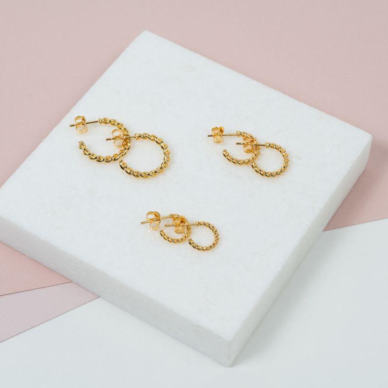 Alhambra Micro Twisted Gold Vermeil Hoop Earrings image