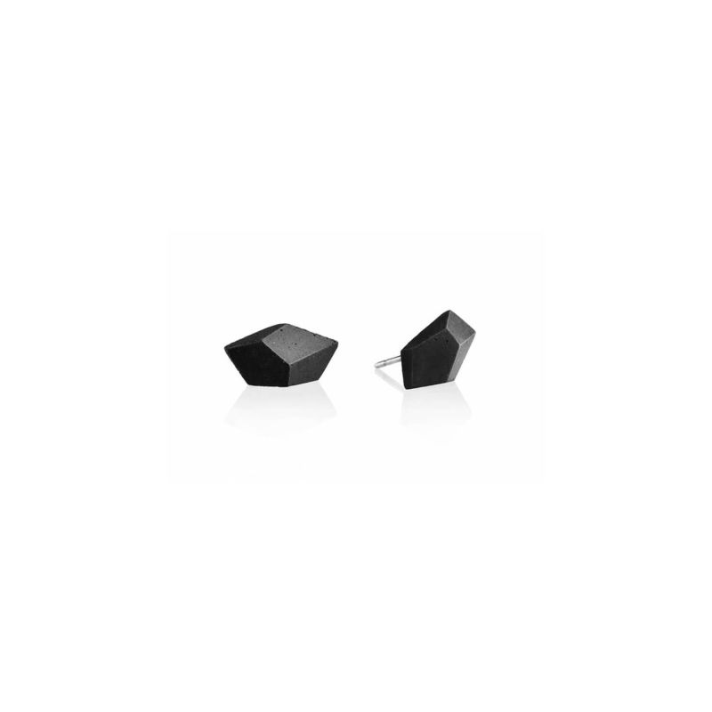 Rock Concrete Stud Earrings Anthracite image
