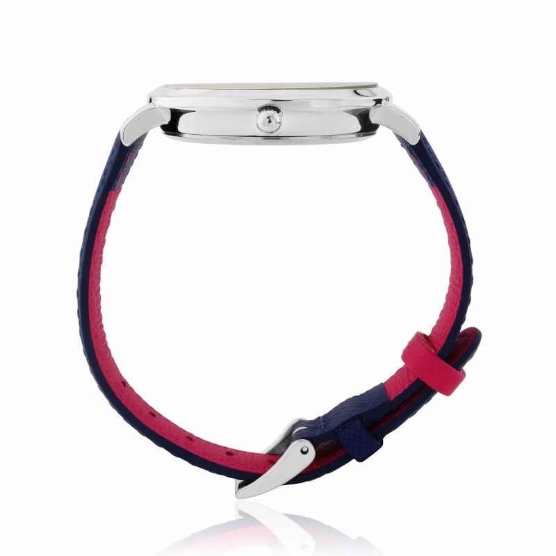 Montmartre Silver Watch With Royal Blue & Hot Pink Strap image