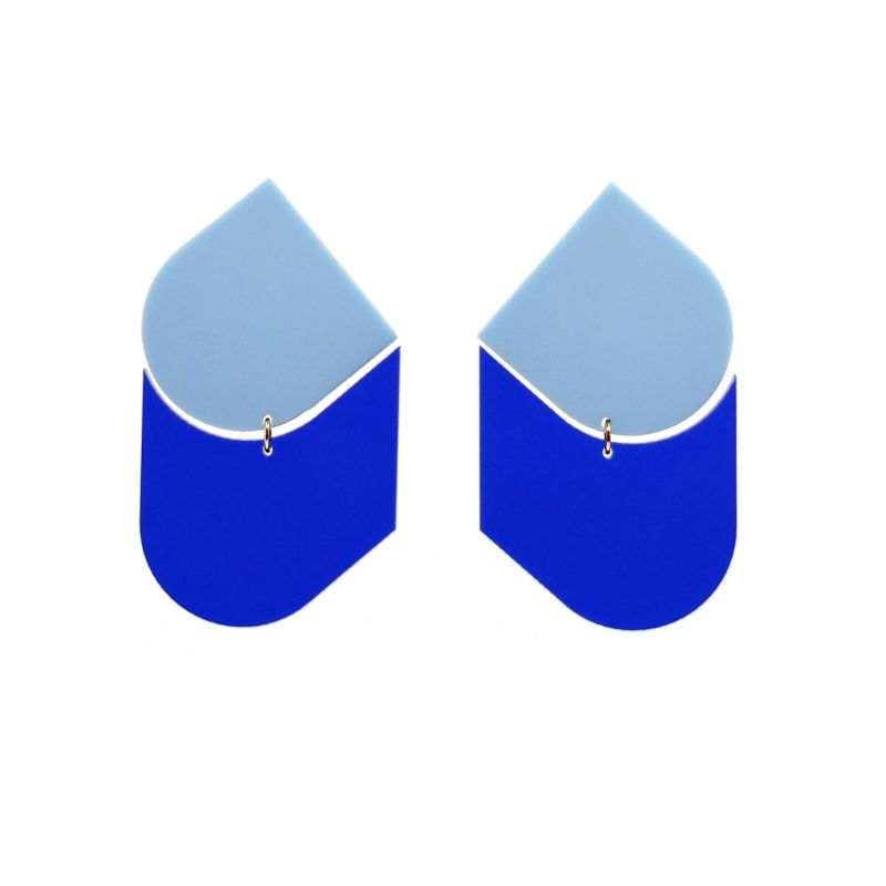 Perspective Blue Earrings image