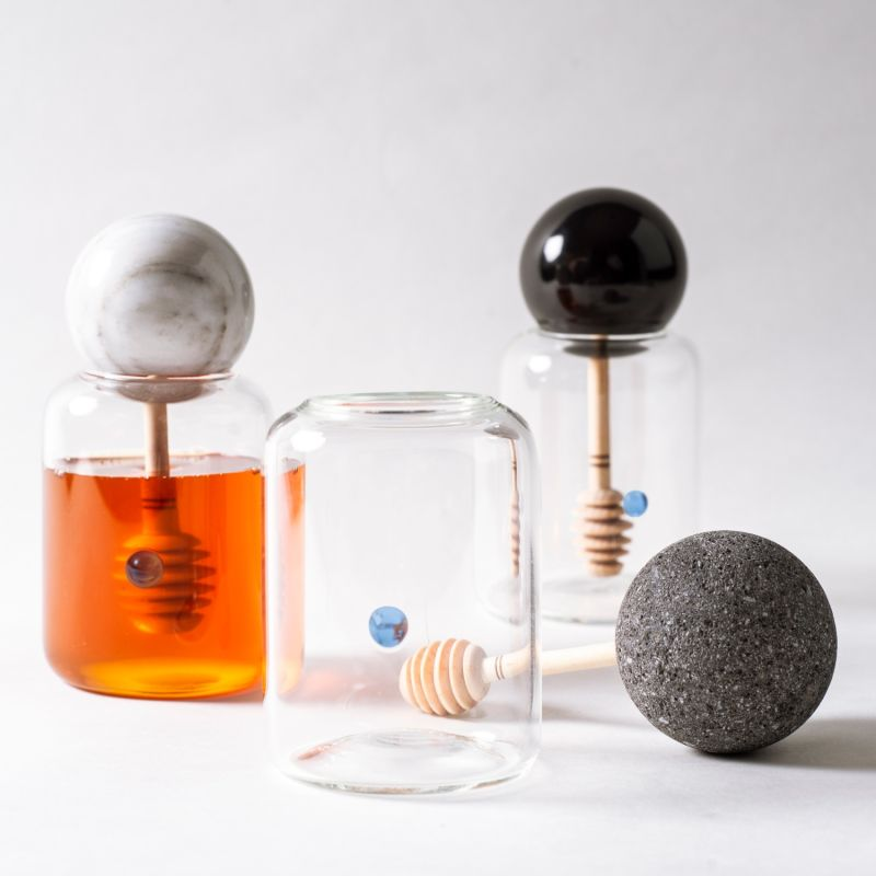 Mielero Honey Container Volcanic Stone image