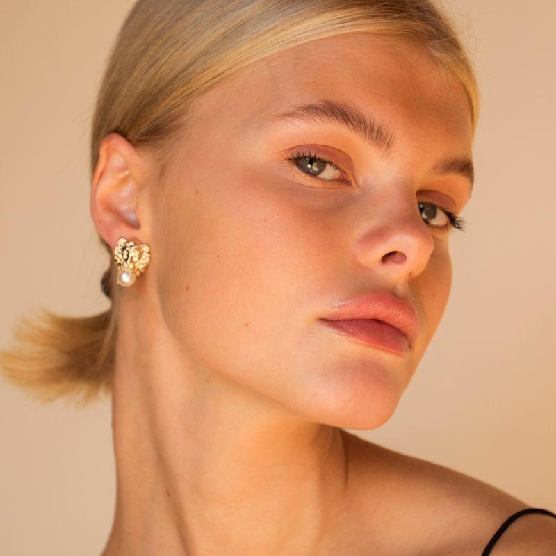 NALA Gold Plated Earrings image