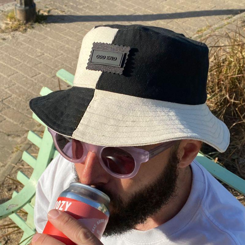4You Reversible Upcycled Bucket Hat - Men'S - Black & Beige image