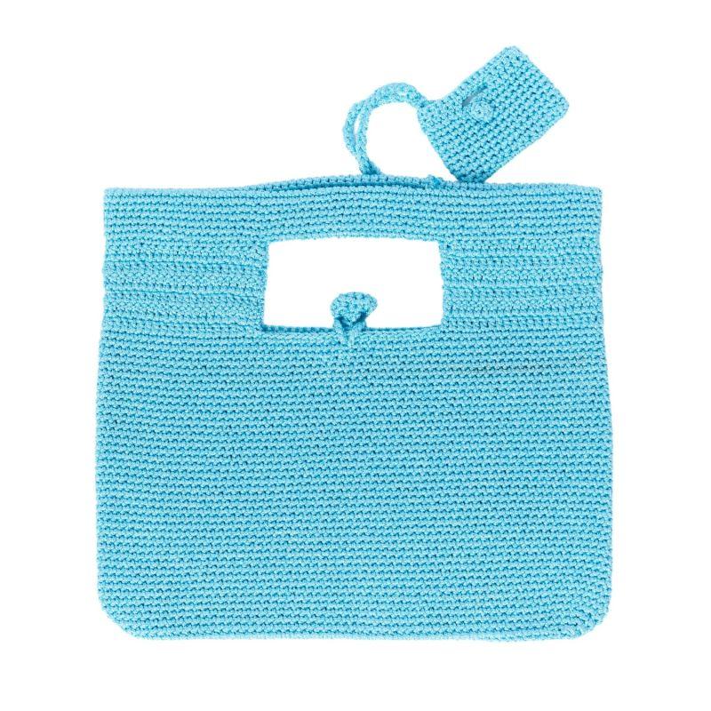 Santorini Crochet Bag in Turquoise image