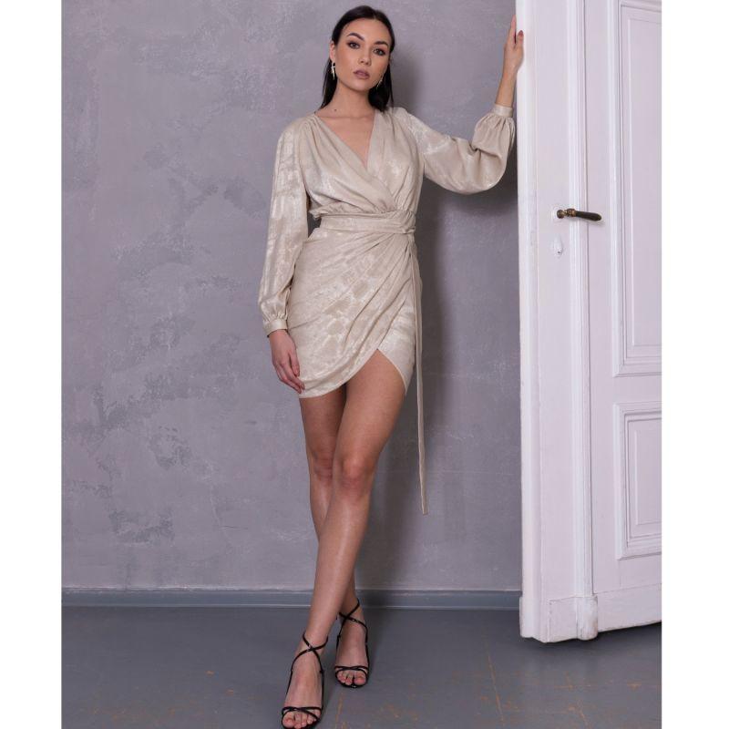 Gold Draped Dress image