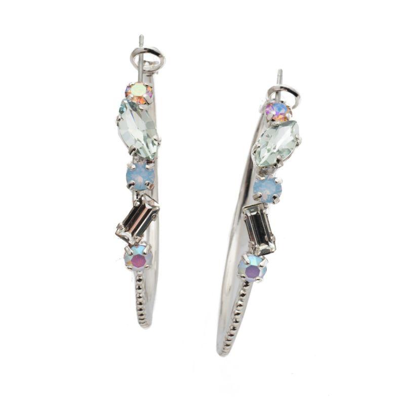 Gianna Hoop Earrings - Nantucket Blue image