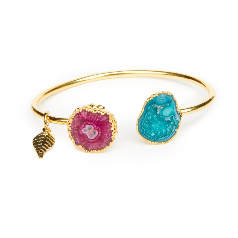 Green & Pink Rocks In The Sky Bangle image