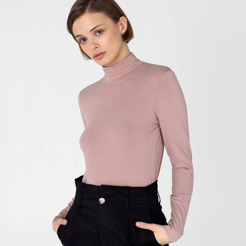 Women's Mock-Neck Pastel Pink image