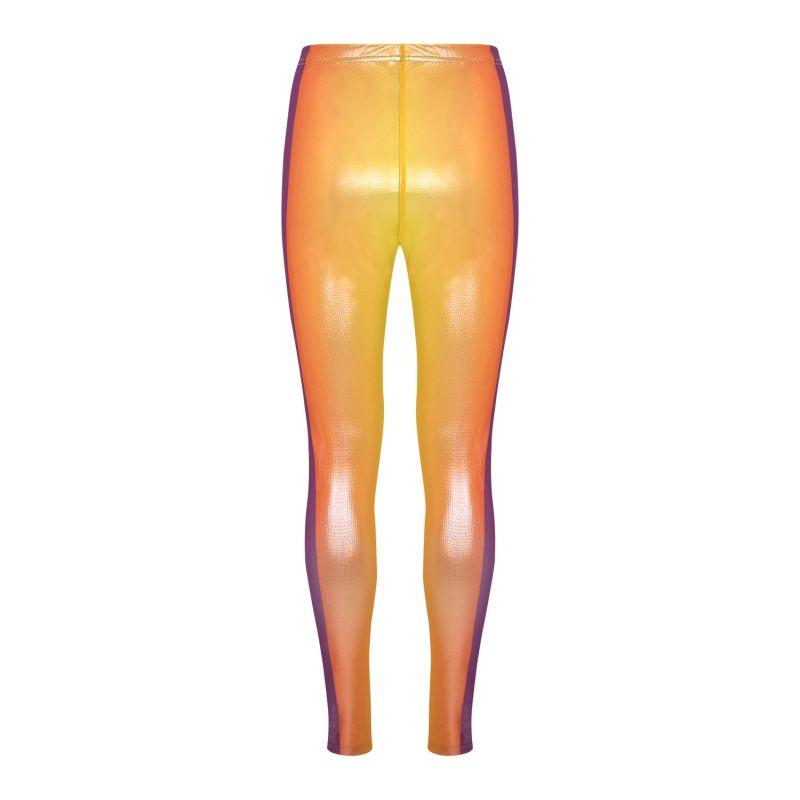 Yellow Gradient Printed Leggings image