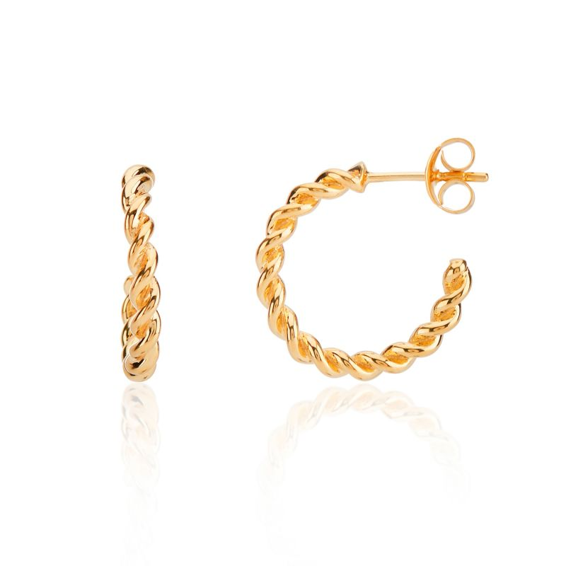 Alhambra Piccolo Twisted Gold Vermeil Hoop Earrings image