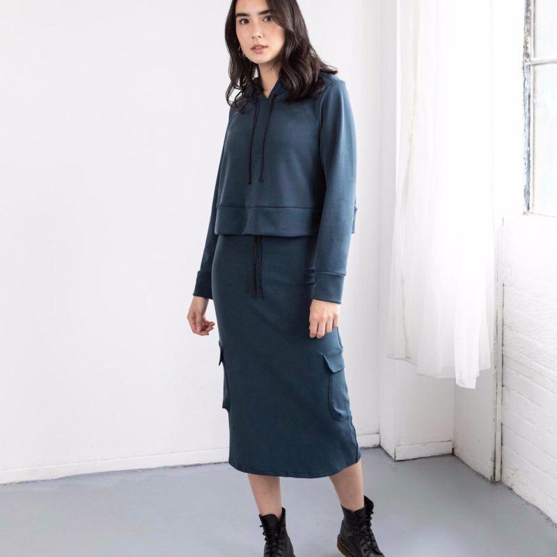Blue High Waisted Lounge Skirt image