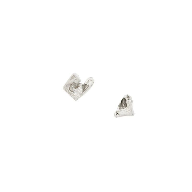 Silver Mini Vortex Stud Earrings image