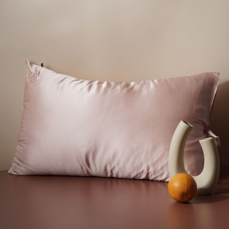 Sleeping Beauty - Classic Pure Silk Queen Size Pillowcase - Pink image