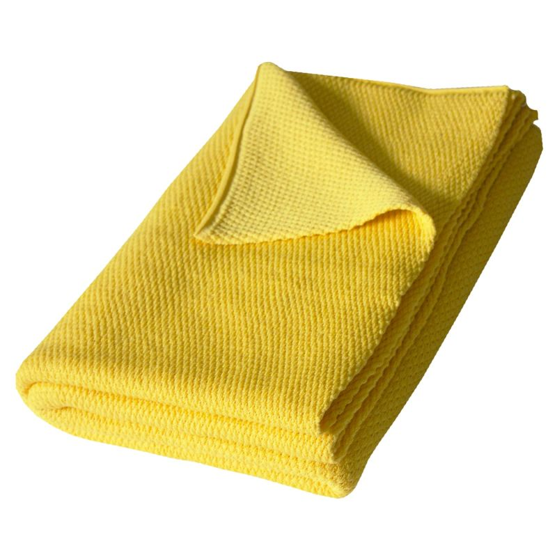 Riverside Wool Blanket - Yellow - 130 x 190cm image