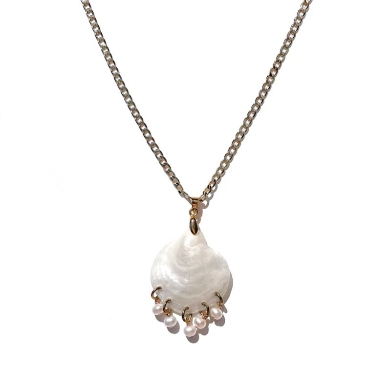 Shell and Pearl Statement Necklace image