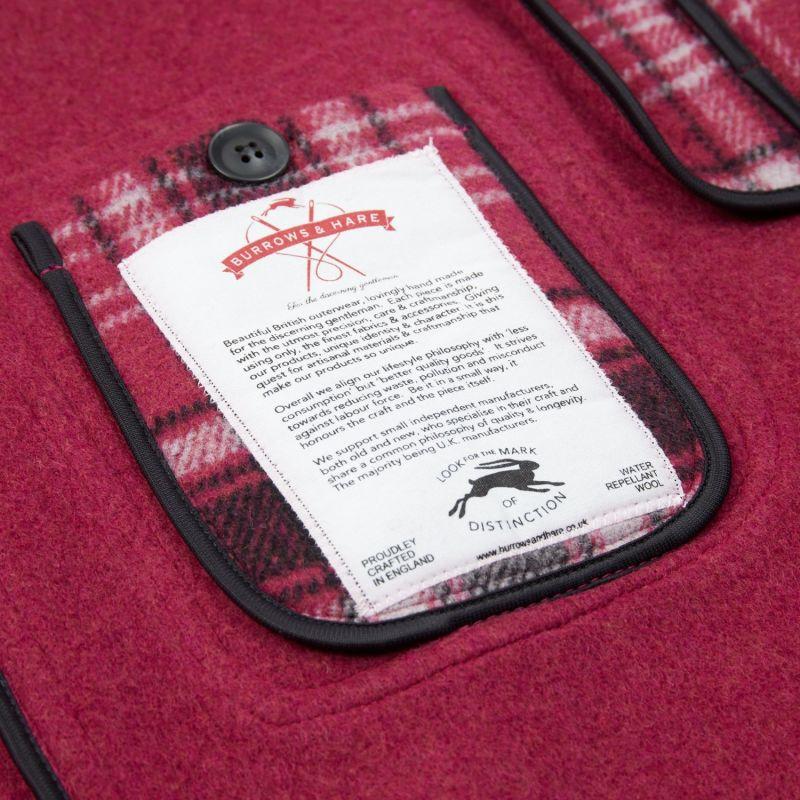 Women's Water Repellent Duffle Coat - Purple Tartan image